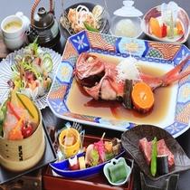 【元祖あたみ煮】&一口ステーキが付く「花車の膳」