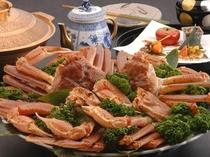 11月~2月は蟹すきなどの旬な味覚をお楽しみいただけます。