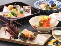 【料理・季節メニュー】(3月〜4月限定 伊勢海老プラン一例)