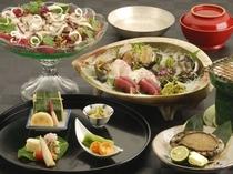【料理・季節メニュー】(6月〜8月限定 あわびプラン一例)