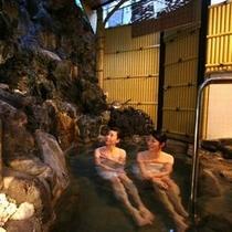 【風の湯】情緒ある岩のお風呂で良質な温泉をお楽しみください(担当者が一番おすすめのお風呂)