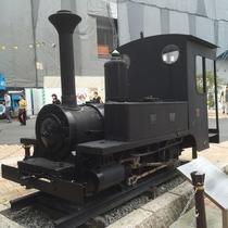 熱海駅に展示されている蒸気機関車は、以前実際に小田原~熱海間を走っていた実物の機関車です
