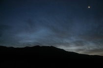 アポイ岳と三日月