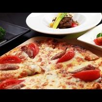 仙台牛と手作りのピザをグレードアップのプランでご堪能ください