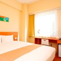 ◆スタンダードダブル◆ 全室!ダブルベッド採用◎広々としたベッドで、ゆっくりお休みください♪