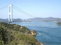 馬島の景色 来島海峡大橋