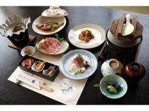 魚も肉も・・欲張りコース3000円会席料理(例)