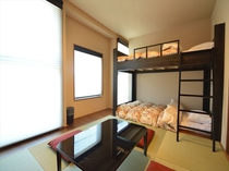 和室4人部屋 室内二段ベット