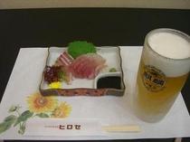 刺身&ビール