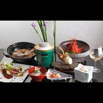 【ダイニング】夕食・和食コースの一例