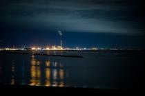 常陸那珂港湾の夜景