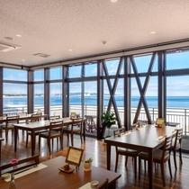 海の見えるお食事会場