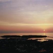 かもめ島の夕日
