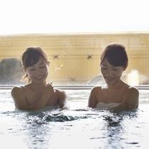 天然温泉「宮ヶ浜の湯」で身も心もほぐされます♪