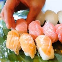 バイキングメニュー一例『握りたて生寿司』
