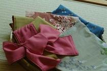 【色浴衣】彩り豊かに、チェックイン時にお好みの柄をお選び下さい。