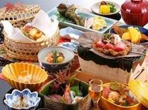 【秋 料理一例】秋の定番「松茸」をはじめ「但馬牛」や「旬な魚介類」など京丹後の山海の季節を