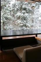 結 ダイニング 雪景色