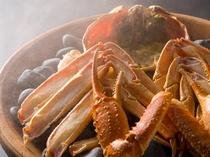 地物活蟹の宝楽焼
