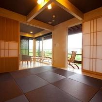 【こごみの部屋】広々とした和室でごゆっくりおくつろぎいただけます。