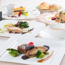 【ディナー一例】厳選された食材を使ったメニューをご準備しております。