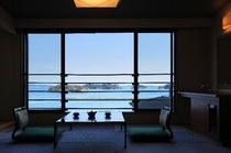 海と島が望める一般客室