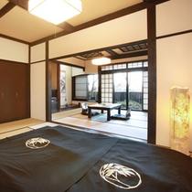 露天風呂付【2間の和室】約11畳+約10畳【静和】