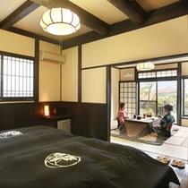 ■露天風呂付【和洋室】和室約11畳+洋室約10畳【静和】