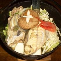 <スタンダードの夕食一例>お鍋