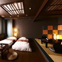 【露天風呂付客室】板の間+畳スペース