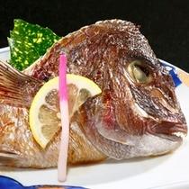 【別注料理】鯛の兜焼き500円