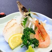 【料理】深海お造り盛り(季節の一例)