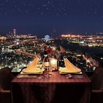 51階「エアシップ」 夜景を眺めながらのお食事を・・・