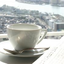 48階「アーバンルームではモーニングコーヒーを♪
