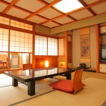 【和室12畳】いつもよりちょっと贅沢に!ゆったりとした雰囲気の、純和風客室です。(一例)
