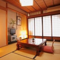 【和室7.5畳】カップル・ご夫婦など2名様でのご宿泊にぴったりのお部屋です。(一例)