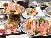 焼きガニ・魚のお造り付き!カニスキ竹プラン★