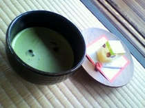 掬月亭 茶菓子セット