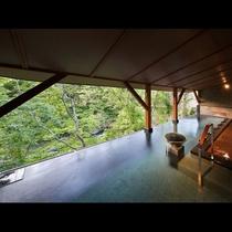 露天風呂【土詠の湯】左斜め上からのアングル