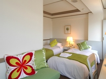 ★上高地の新緑をイメージ★緑がテーマのツインルーム。23平米の広々としたお部屋