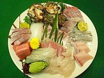 新鮮活魚の皿盛り(イメージ)