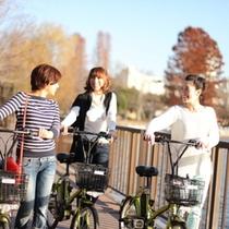 ■ホテルで自転車をレンタル♪自転車なんて久しぶり♪