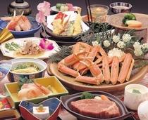 焼蟹・フィレステーキ会席