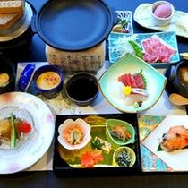 *【夕食一例(Aコース)】グレードアップしたお料理です。季節や仕入れによってお料理内容が変わります。