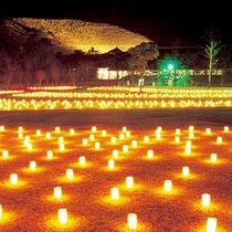 *奈良の夏の風物詩【燈花会】。ろうそくが作り出す幻想的な風景が楽しめます。