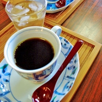 *モーニングコーヒーをサービス♪ほっと一息ついてくださいね。