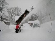 駐車場・除雪風景