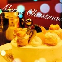 クリスマスケーキで乾杯