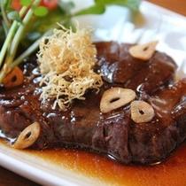 肥後牛ステーキは人気の一品