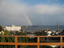 お風呂屋上テラスからのある日の虹